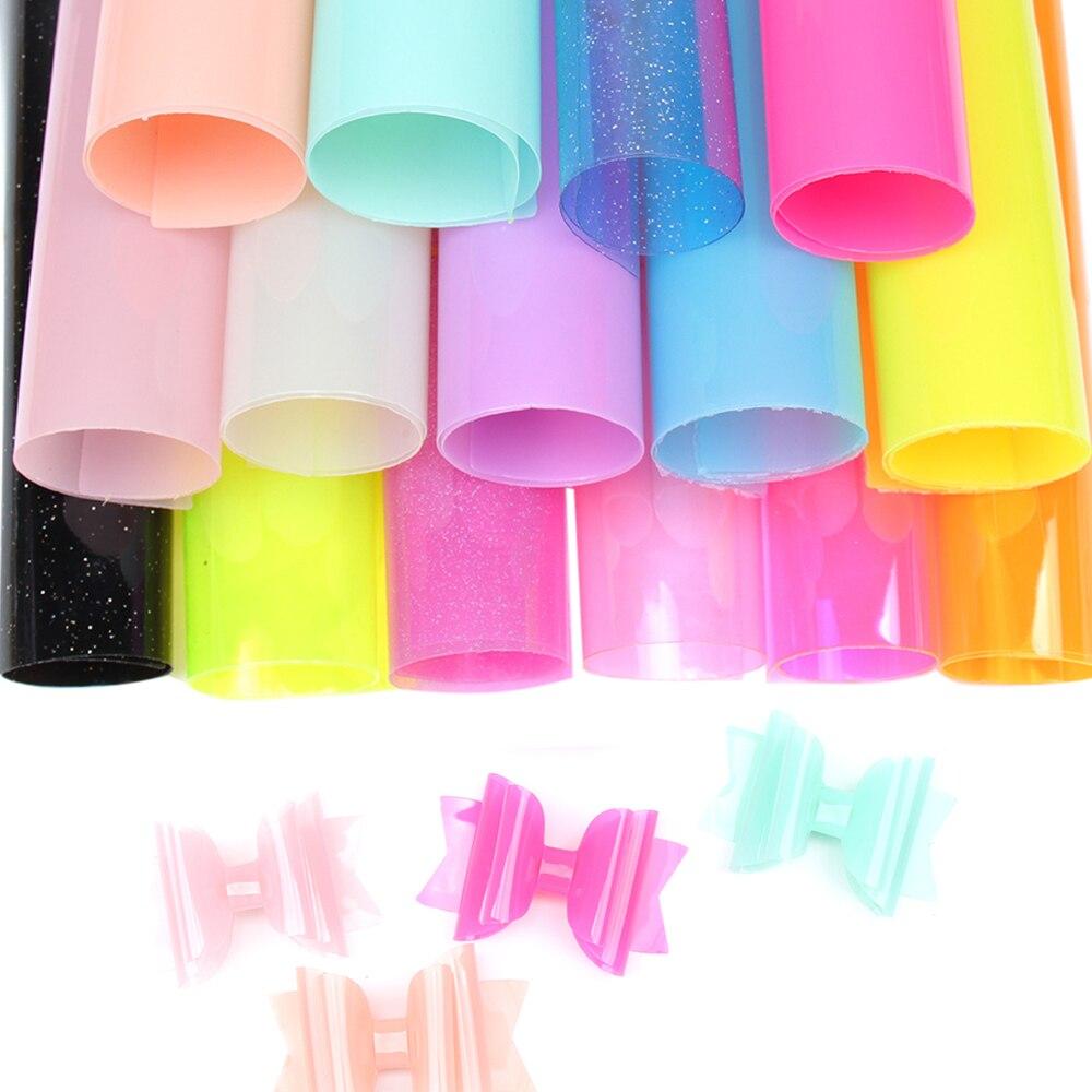 Cheerbows, листы из синтетической кожи, прозрачная блестящая ткань для праздничного декора, банты ручной работы