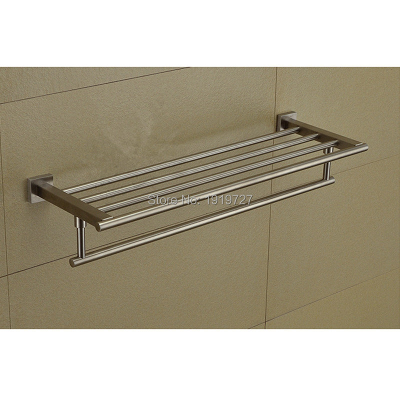 5 Year Guarantee New Material 304 Stainless Steel Double Wall Mounted Bathroom Towel Racks Bathroom Accessories Creative good qualiy one year guarantee e2e x10f1 z