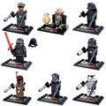 8 unids/lote mini figuras de Star Wars Set Kylo Ren BB8 R2d2 Boba Fett Stormtrooper Building Toy D867 lepin Compatible