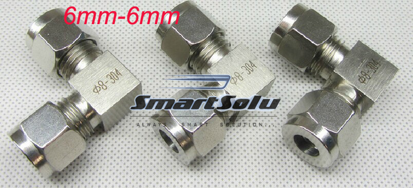 Free Shipping 2pc Lots For 6mm Stainless Steel Elbow