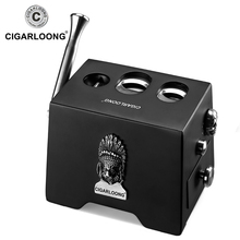 Cigar Cutter Krupp Stainless Steel 3 Hole Cylinder Scissors Luxury Guillotine CLE-90001 CIGARLOONG