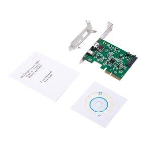 Image 5 - H1111Z PCI Express כדי USB3.1 USB C + USB3.1 סוג מארח בקר כרטיס עד USB3.1 Gen השני 10Gbps סעודת מהירות + ASM3142 ערכת שבבים