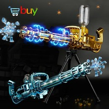 Electric Bursts Jet Water Gun Toys Cannon Air Soft Bullet Weapon for Children Kid Boy Outdoor CS Game Paintball Submachine Gifts