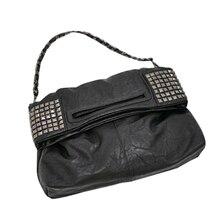 FGGS Caliente Coreana de la Mujer Remache de Cadena De Cuero de Imitación de Hombro Plegable Bolso Cross body Bag