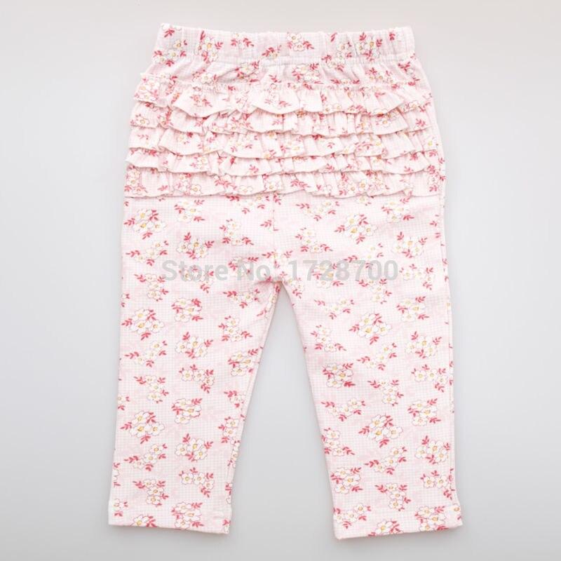 Begeistert Owlzz Mädchen Rüsche Hosen Baby Baumwolle Blumen Rosa Blau Wellenförmige Streifen Neugeborenes Kind Leggings Lange Kind Hosen FüR Schnellen Versand