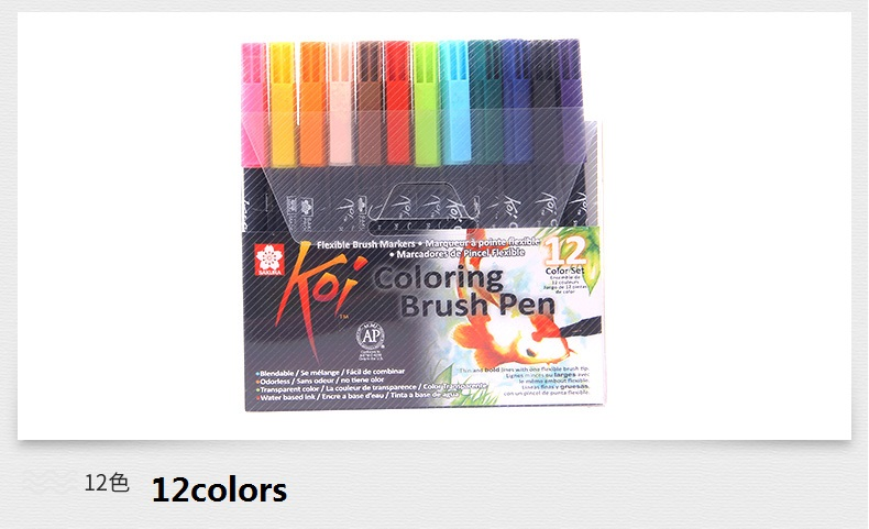 48 Cor Coloração Escova Caneta aquarela Conjunto