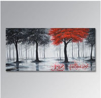 100%Hand painted Wall Decor Art Abstract Tree Oil Painting On Canvas no frame