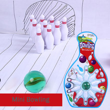 Mini Fingertip Bowling Pinball Toy Kids Marbles Collision Fun Novelty Toys Marble Bowling Set Fun Games Toys Kids Gifts 2019(China)
