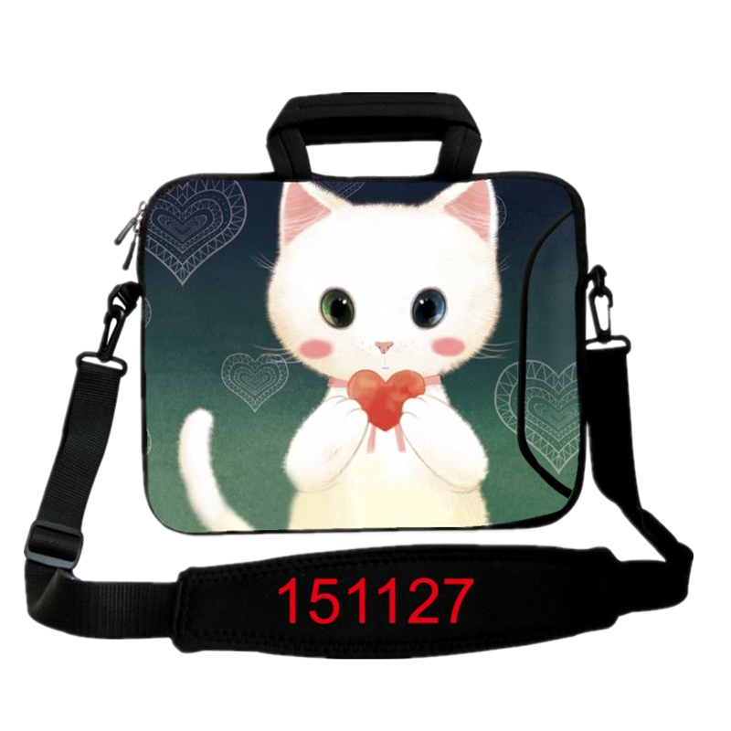 13.3 15.6 17.3 Cute Cat Laptop Computer Shoulder School Bag Notebook Case 10 11.6 13 14.4 17 for Macbook Air Pro Dell Acer Asus