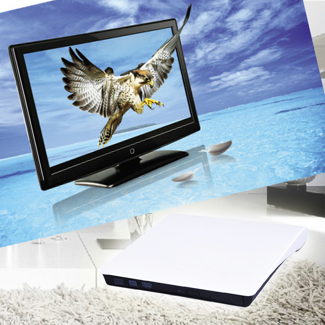 Slim externo USB 3.0 CD DVD dv drw burner escritor para laptop DVD RW Gravador de DVD-RAM Armazenamento Óptico