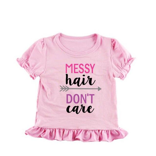 a42d4f9f1 Patrón corto hermana camisas sucias no les importa customed pink ruffle  dress superior ropa de bebé