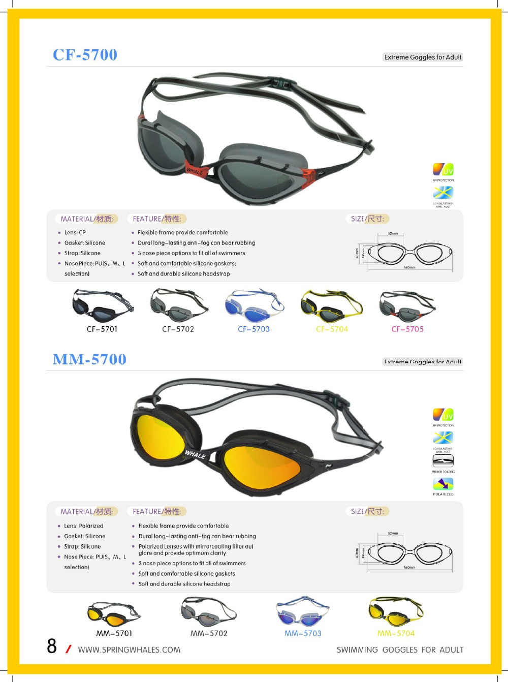 f013d09c5a2 ღ ღBrand Polarized swimming goggles adults water glasses ...