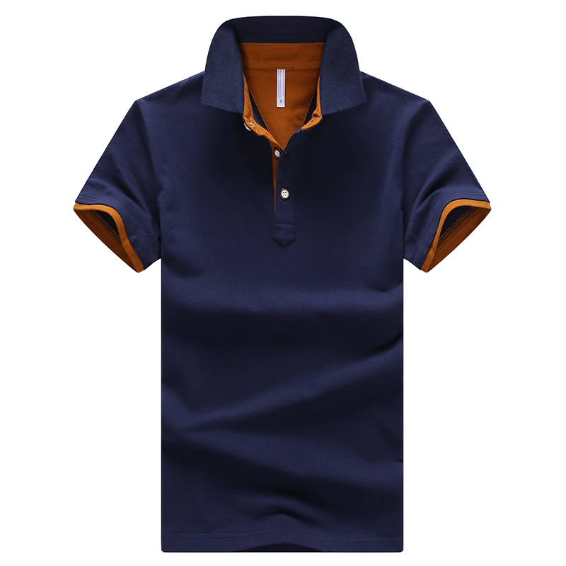 Cotton Men's   POLO   Shirt Smart Casual Solid Color Short-Sleeved Shirt Slim Breathable Anti-Pilling   Polo   Size M-4XL;YA200