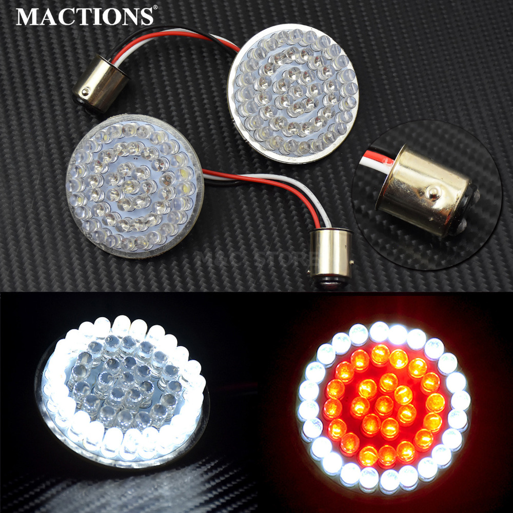 2 Bullet Style 1157 Turn Signal Led Inserts Red And White For Harley Wiring Diagram 2014 Sportster Touring 2017 Tri Glide 2016 On Alibaba Group