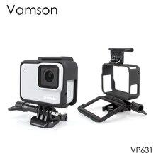 Vamson สำหรับ Gopro อุปกรณ์ป้องกันกรณีกรอบขอบฝาครอบ Mount Hero7 6 5 สีดำ 7 เงิน/สีขาว VP631
