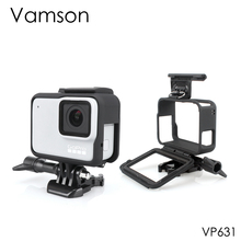 Vamson for Gopro Accessories Protective Frame Case Border Cover Housing Mount  Hero7 6 5 Black 7 Silver/White VP631