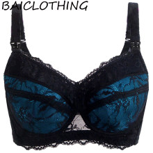 e67fcbe917913 BAICLOTHING Womens Full Coverage Deep V Underwire Non-Padded Lace Bra Women  Lingerie 34 36 38 40 42 44 46 48 B C D E F G