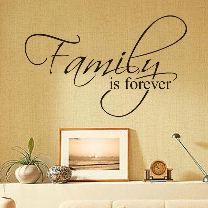 Family For EVER Wall Sticker Home Decors living room bedroom wall ...