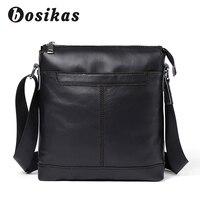 BOSIKAS Men Genuine Leather Bag Fashion Leather Crossbody Bag Shoulder Men Messenger Bags Small Casual Designer Handbags Man Bag