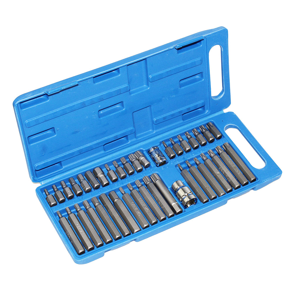 40 pièces/ensemble Hex Star Torx Spline douille ensemble outil Kit Garage outils équipement tournevis ensemble outil pour voiture Auto réparation