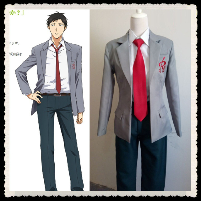 Plus Size Boys School Form GANGAN COMICS ONLINE Nozaki Umetarou Cosplay Costume For Men Anime Clothes