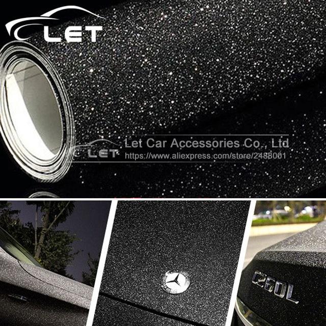 Car Styling Black Glitter Diamond Shiny Vinyl Films Wrap For Car Body Car Sticker Auto Decoration Motorcycle Decal