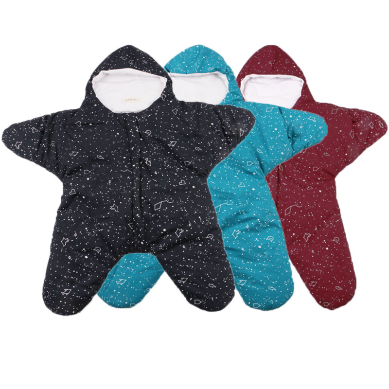 2017 hot sale baby bed set baby starfish winter newborn prams bed swaddle blanket wrap cartoon bedding