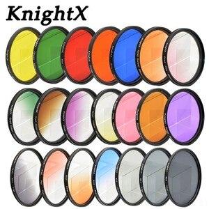 Image 1 - KnightX 24 nikon canon 用の 18 55 d80 anamorphique レンズ eos 600d 写真 lentes パラ 52 ミリメートル 58 ミリメートル 67 ミリメートル uv CPL nd