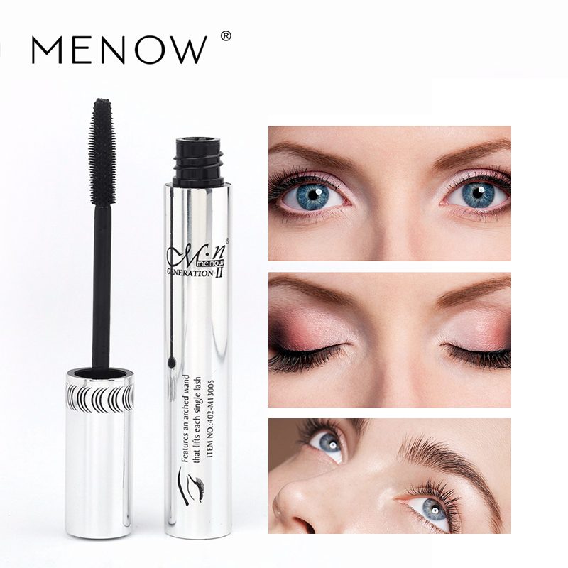MENOW Hot Selling Voluminous Original Carbon Black Makeup Curling Mascara Carbon Black Quick Dry Cosmetic Eye