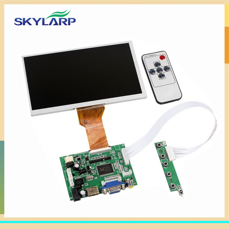 skylarpu 9 Inch for Raspberry Pi LCD Screen TFT Monitor AT090TN12 with HDMI VGA Input Driver Board Controller (without touch) skylarpu 7 inch raspberry pi lcd screen tft monitor for at070tn90 with hdmi vga input driver board controller without touch