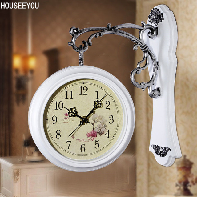 modern double sided wall clocks vintage digital watch relogio de parede wall clocks home decor for
