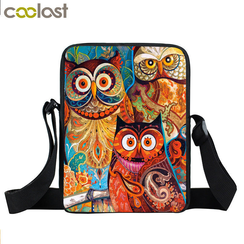 Animal Bird Parrot Owl Mini Messenger Bag Women Handbag Kids Crossbody Bag Children School Bags Boys Girls Bags Best Gift