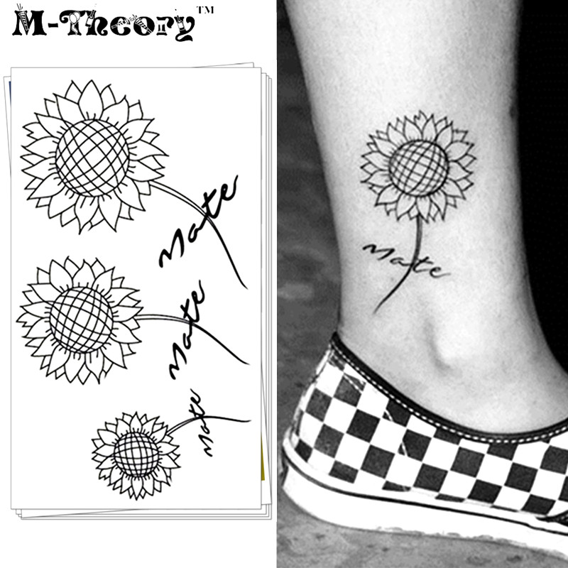 Online buy wholesale small sunflower tattoo from china for Sunflower temporary tattoo