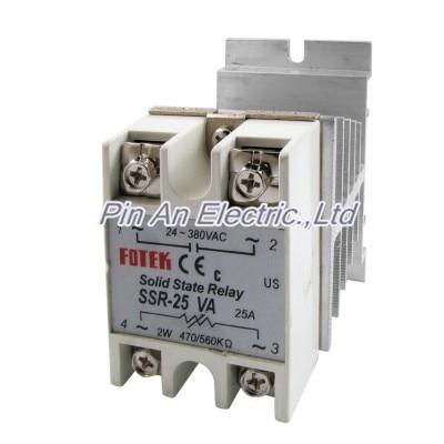 Solid State Relay Voltage Resistance Regulator SSR 25 VA 24-380V AC + Heat Sink 24 380 v ac 470 560kohm ssr 40va solid state relay resistensi regulator