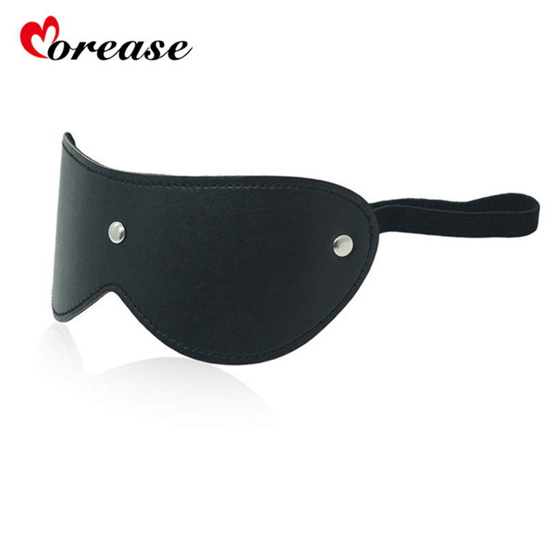 Eye Mask Blindfold Erotic Slave Restraint Leather Blinder For Couple Women Role Play BDSM Adult Game Fetish Bdsm Sex Toy Product