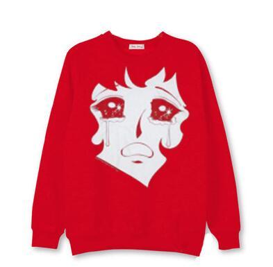 795664d2b Kpop blackpink cry baby jisoo same printing o neck thin sweatshirt ...