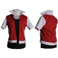 Anime Pokemon Satoshi Ash Katchum Trainer Red Cosplay Costume Custom Made Any Size