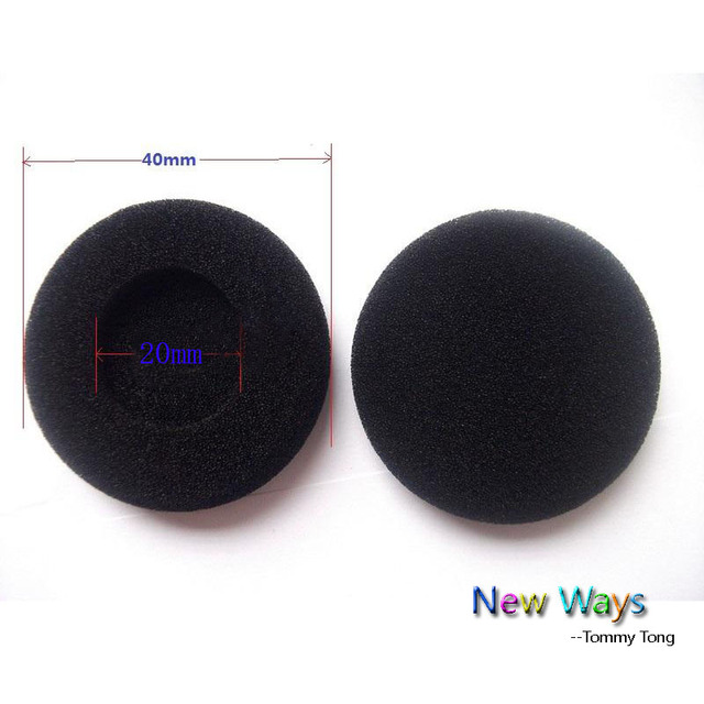260c5e717ee695 2pcs earphone Thick Foam Earbud 4cm sponge ear buds Headphone Ear pads  cushion Replacement Sponge Covers