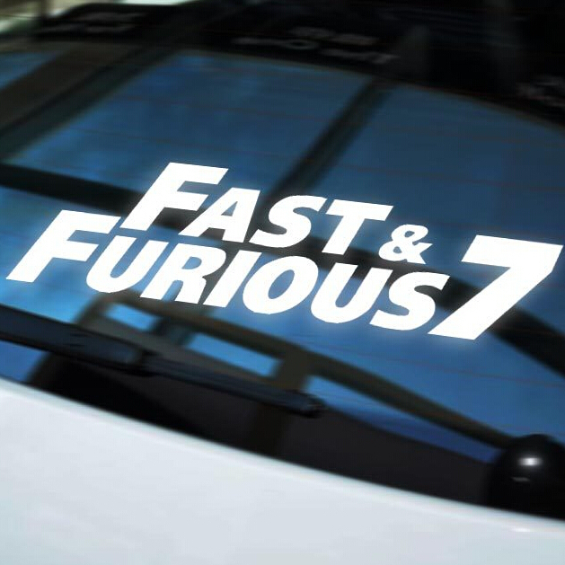 Free shipping fast furious 7 removable vinyl bumper wall stickers cars in wall stickers from home garden on aliexpress com alibaba group