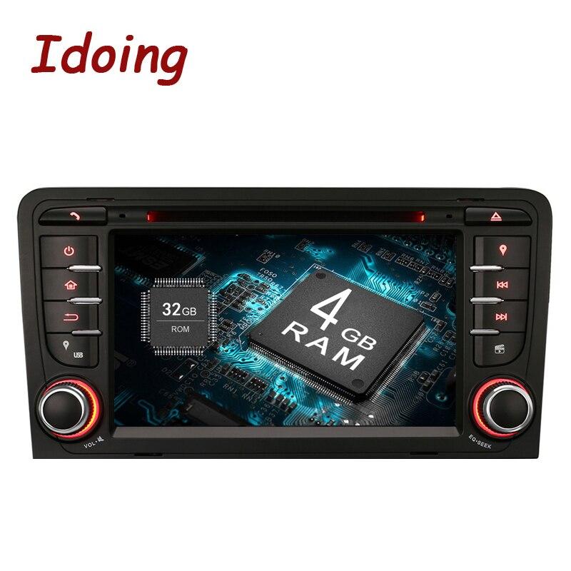 Idoing Android9.0/4G RAM/32G ROM/8 Core/A3 2Din Para Audi Car DVD player Multimídia de Vídeo Cabeça Dispositivo Wi-fi Estéreo 3G TV Fast Boot