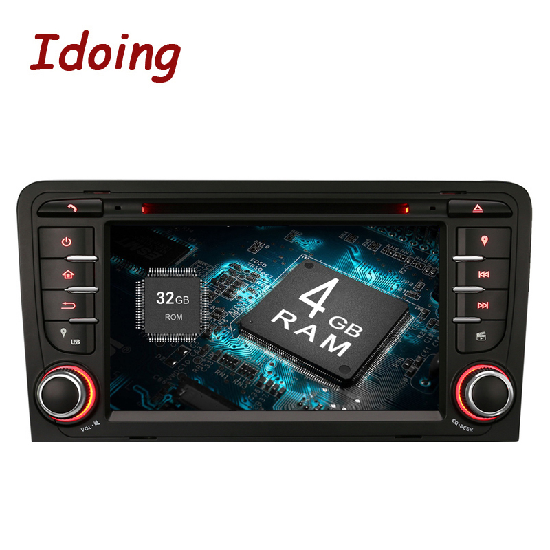 Idoing Android9.0/4G RAM/32G ROM/8Core/2Din For Audi A3 Car DVD Player Multimedia Video Head Device Stereo WiFi 3G TV Fast Boot