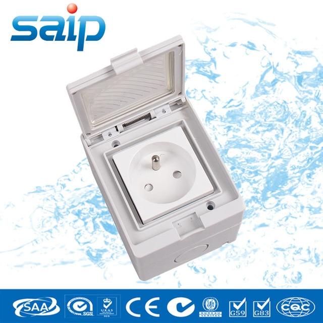 SP FR IP55 16A 250 V Badkamer Gebruik Waterdicht Stopcontact/Een ...