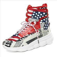 Mens Running Gym Sport shoes Autumn/winter Colorful High Top