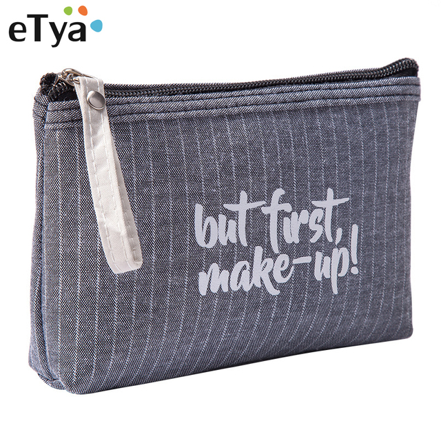 eb8baa4c8c9f US $1.59 40% OFF|eTya Fashion Small Cosmetic Bag Striped Makeup Case Zipper  Lip Make Up Bags Women Travel Beauty Wash Organizer Toiletry Bag Hot-in ...