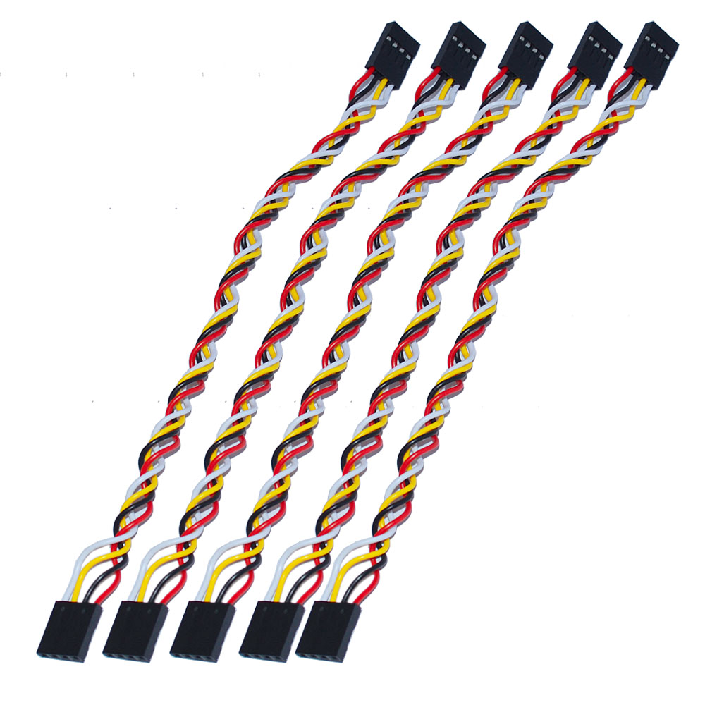 Free shipping 10pcs lot Keyestudio 4pin F F Dupont Line Dupont Cable 2 54 Long20cm