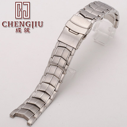 Solid Curved Watch Metal Bracelet For Casio For EF-524 Stainless Steel Strap Clock Hours Belt 22mm With Tools Band Horlogeband galaxy print a line vintage dress