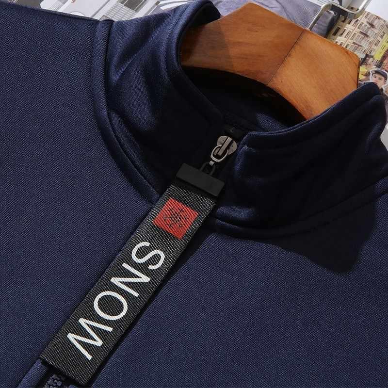 Мужской спортивный костюм Varsanol, комплект из двух предметов, Толстовка и спортивные штаны, приталенный спортивный костюм на осень и весну
