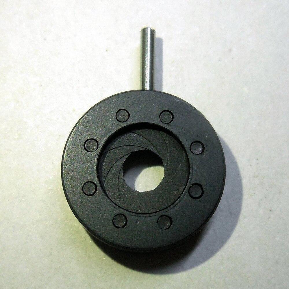 1 Pièce 1-8mm Iris Ouverture du Diaphragme Gamme 8 lame Continuellement ouverture Variable slot avec 8 lames pour binoculaire microscope