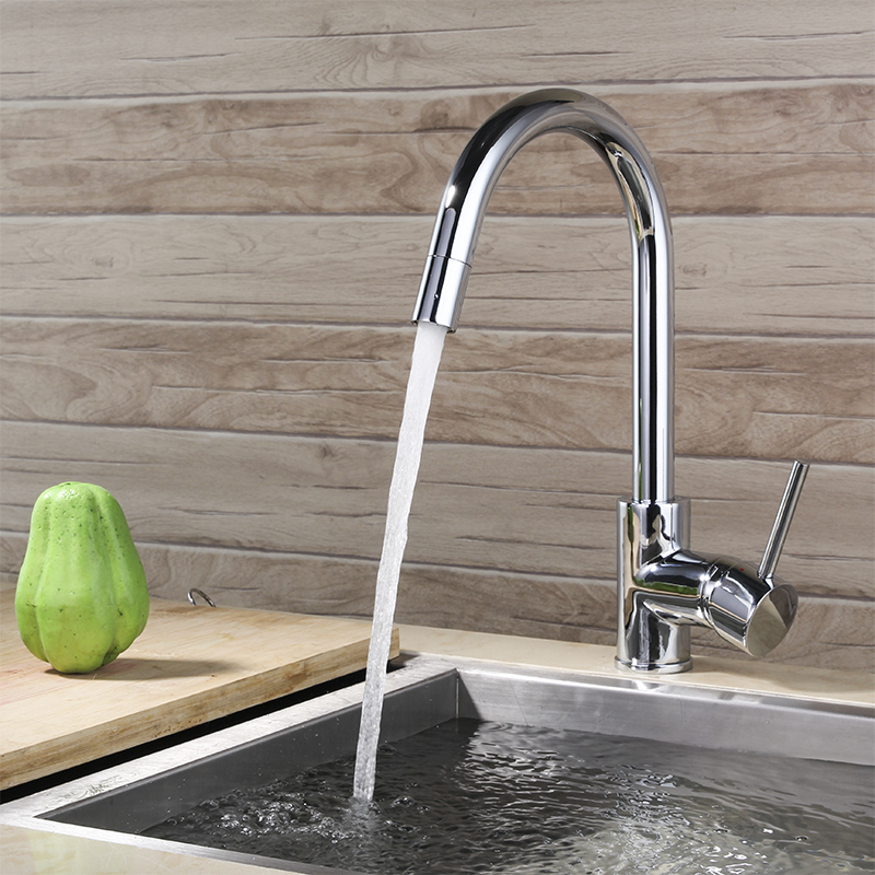 BEST Chrome plated solid brass rotation kitchen mixer faucet Sink Tap faucet