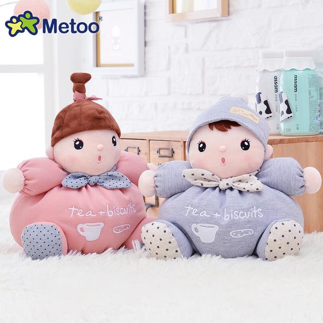 Doce Encantador Bonito Kawaii Bichos de Pelúcia Do Bebê de pelúcia Crianças Brinquedos para Meninas presente de Aniversário Presente de Natal 26 cm Metoo Brinquedos Do Bebê Apaziguar boneca